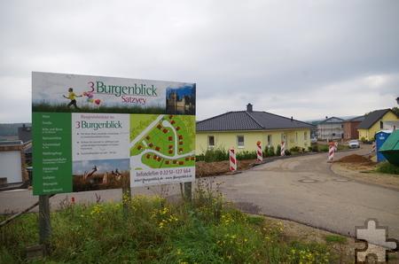 """Zahlreiche Häuser wurden im zweiten Abschnitt des Baugebiets """"3 Eifelblick"""" bereits errichtet. Foto: Johannes Mager/pp/Agentur ProfiPress"""