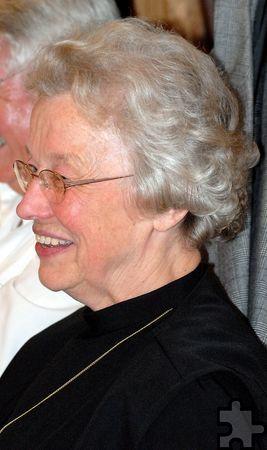 """Schwester Vinzenza wurde am 28. März 1934 als Anneliese Lück in Grünebach (Betzdorf) im Grenzbereich zwischen Siegerland und Westerwald geboren. Die gelernte Industriekauffrau arbeitete für eine bekannte Zeitungsredaktion, ehe die zeitlebens nach der """"idealen"""" christlichen Gemeinschaft suchende engagierte Christin nach reiflicher Überlegung am 18. Juli 1962 in die Kongregation der """"Schwestern vom Heiligen Geist"""" in Koblenz eintrat. Später trat sie zur Communio in Christo über. Foto: Manfred Lang/pp/Agentur ProfiPress"""