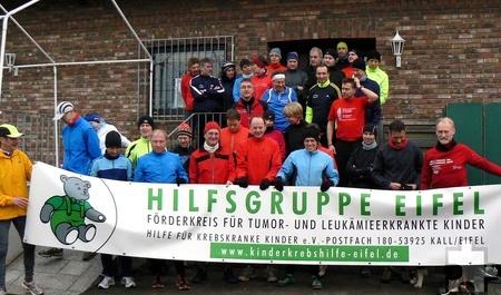 Seit vier Jahren veranstalten die vier Vereine ihre Winterlaufserie für die Hilfsgruppe Eifel. Foto: privat/pp/Agentur ProfiPress