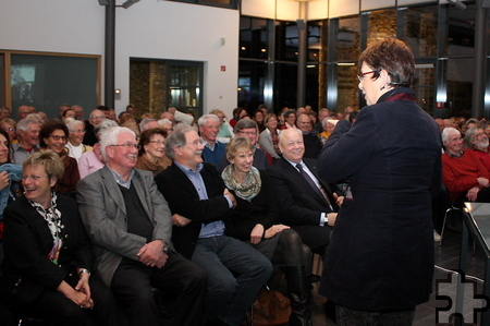 """Vor vollem Haus hielt Barbara Schock-Werner ihren Vortrag in der """"Mottenburg"""" auf Einladung der Freunde und Förderer des LVR-Industriemuseums. Foto: Steffi Tucholke/pp/Agentur ProfiPress"""