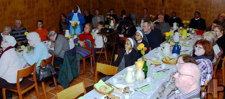 Angehörige und Sympathisanten der Communio in Christo verfolgten beim ersten Ordenstreffen des Jahres 2015 die Vorträge von Schwester Mariastella und Father John Paul.  Foto: Manfred Lang/pp/Agentur ProfiPress
