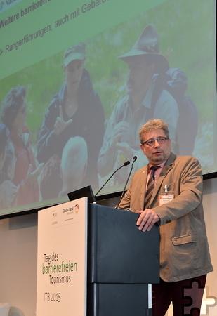 """Michael Lammertz beim """"Tag des barrierefreien Tourismus"""" auf der ITB in Berlin. Foto: Manfred Lang/pp/Agentur ProfiPress"""