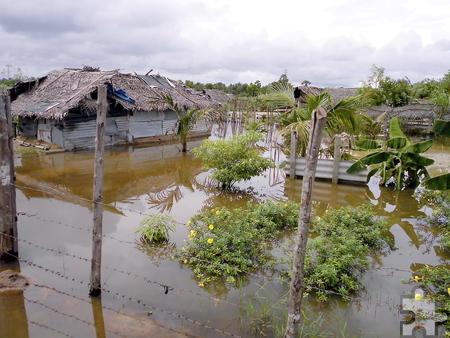 """Land unter"""" war am Tag der Abreise. Nur kurze Zeit später hätten die Helfer aus der Eifel das überflutete Gebiet nicht mehr verlassen können. Foto: Privat/pp/Agentur ProfiPress"""