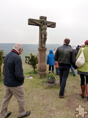 Teil des Besinnungstags am Karfreitag, 3. April, ist das gemeinsame Beten auf dem Jahrhunderte alten Kreuzweg auf dem Kalvarienberg. Archivfoto: Privat/pp/Agentur ProfiPress