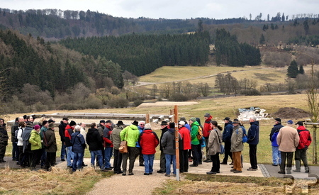 Der Archäologische Landschaftspark in Nettersheim faszinierte die Eifeler Wegepaten. Foto: Reiner Züll/pp/Agentur ProfiPress