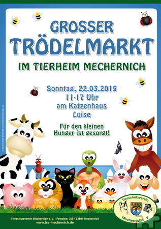 Am Sonntag, 22. März, findet am Katzenhaus Luise auf dem Gelände des Tierheims Mechernich von 11 bis 17 Uhr ein Trödelmarkt zugunsten der dort versorgten Tiere statt. Foto: Veranstalter/pp/ProfiPress