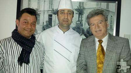 Restaurantchef Josip Buljat mit Küchenchef Pipo Salem und dem für den Service zuständigen Peter Heinen (von rechts). Foto: Privat/pp/Agentur ProfiPress
