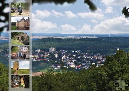 Immer wieder erreichten die Touristik-Agentur Nachfragen nach Mechernich-Postkarten – jetzt liegen sie vor. Grafik: Marike Lotz-Colditz