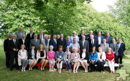 Die polnischen Gastgeber mit den Delegationen aus Mechernich, Leck und Sandy. Foto: Privat/pp/Agentur ProfiPress