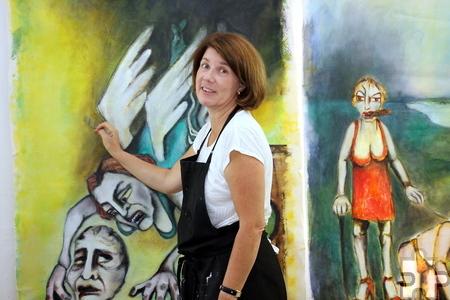 """Die Kölnerin Sandra Besser ist zum ersten Mal dabei, hat sich aber sofort wohl gefühlt. """"Die Klosteranlage ist wie ein eigenes Dorf, alles ist sehr familiär"""", sagt sie. Foto: Alice Gempfer/pp/Agentur ProfiPress"""