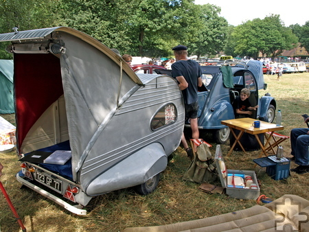 Auf dem historischen Campingplatz sollen viele alte Caravans und Zelte zu sehen sein. Foto: LVR-FMK/pp/Agentur ProfiPress