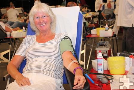 Die Lückeratherin Martha Musiol hat eine seltene Blutgruppe und sieht sich so umso mehr in der Verantwortung, von ihrem Lebenssaft zu spenden. Foto: Alice Gempfer/pp/Agentur ProfiPress