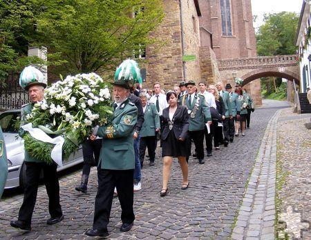 Die traditionelle Kranzniederlegung am Ehrenmal ist Bestandteil des Schützenfestes, zu dem am 15. und 16. August die Kommerner Sebastianer einladen. Foto: Marion Eichinger/pp/Agentur ProfiPress