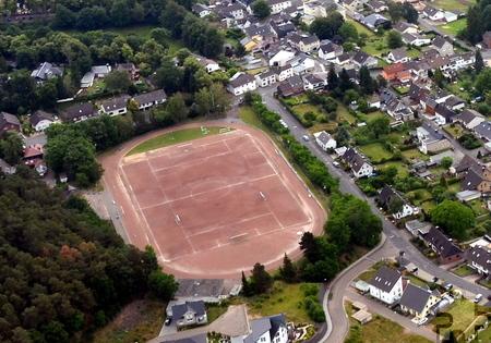 Das Eifelstadion aus der Luft: Luftbild: Manfred Lang/pp/Agentur ProfiPress