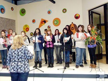 Der Chor der Hauptschule Kall unterhielt seinerzeit auch beim Tag der offenen Tür der Sekundarschule Mechernich-Kall. Foto: Archiv ProfiPress