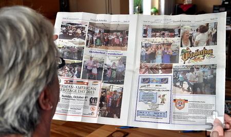 """Die in Santa Monica erscheinende deutsche Zeitung """"California Staatszeitung"""" berichtete über das Oktoberfest. Foto: Reiner Züll/pp/Agentur ProfiPress"""