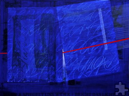 """Das Gemälde """"Wort-Laut"""" von Marie-Madeleine Bellenger ist 2015 entstanden und soll ein Teil des """"he-ART""""-Projektes sein. Foto: he-Art-Projekt/pp/Agentur ProfiPress"""