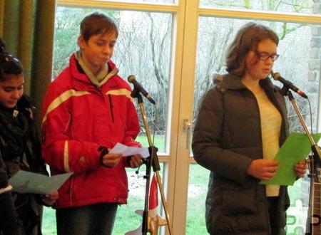 Die Begrüßung hatten die Schüler selbst verfasst und trugen sie in Deutsch, Russisch, Serbisch und Arabisch vor. Foto: Privat/pp/Agentur ProfiPress