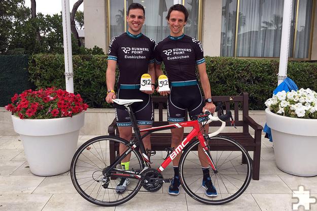 Die Brüder Daniel und Dominic Aigner aus Kommern sorgten beim Radrennen auf Mallorca mit ihrem Doppelsieg für Furore. Foto: privat/pp/Agentur ProfiPress