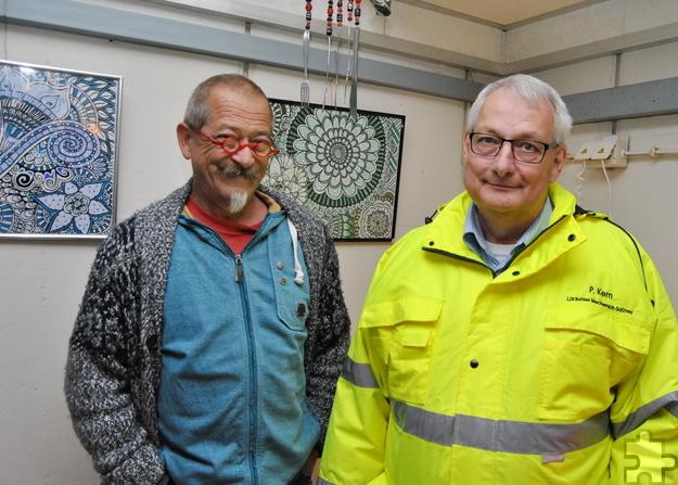 """Künstler Uwe Rhiem und Bunker-Experte Peter Kern hatten die Idee zur Dauerausstellung """"Buntbunkerwelt"""". Foto: Renate Hotse/pp/Agentur ProfiPress"""