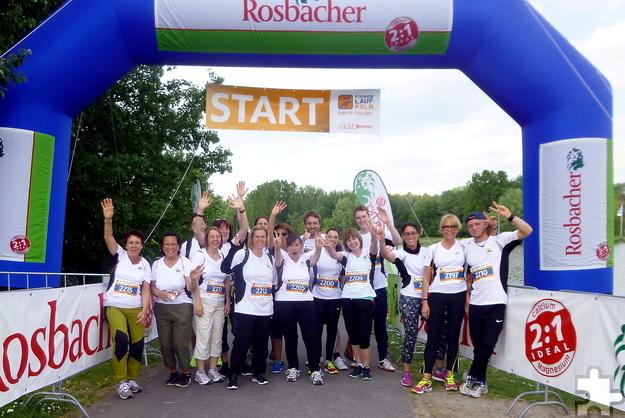 """Mit einem Team aus 25 Mitarbeitern gingen die """"Haus Sonne Runners"""" beim Kölner Firmenlauf an den Start. Foto: Privat/pp/Agentur ProfiPress"""