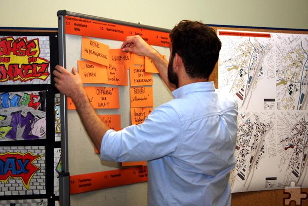 Die Ideen der Teilnehmer wurden während der Diskussion in den Arbeitsgruppen gesammelt. Foto: Steffi Tucholke/pp/Agentur ProfiPress