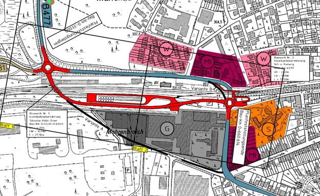 Durch die Untertunnelung der B 265 unter der Bahnstrecke Köln-Trier-Saarbrücken hindurch haben sich die Verkehrsströme durch Mechernich verändert. Das ergaben Verkehrszählungen. Zu einer Entlastung der stark frequentierten Verkehrsader Mechernicher Weg/Schimmelsweg kam es laut Bürgermeister Dr. Hans-Peter Schick aber erst, nachdem die Stadt die Strecke durch bauliche und geschwindigkeitshemmende Maßnahmen für den Durchgangsverkehr unattraktiv gemacht hat. Repro: Archiv ProfiPress
