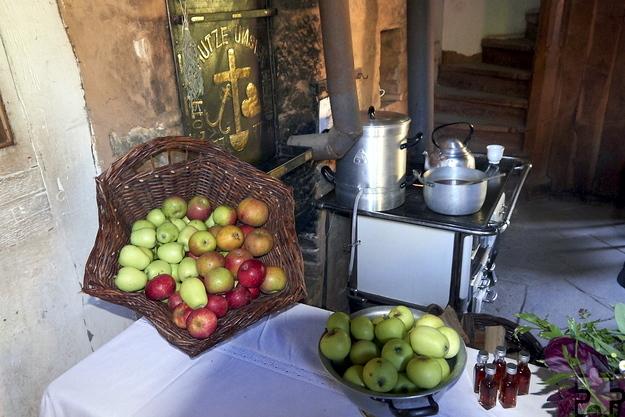 Körbeweise gedörrt werden sollen Apfelringe beim zweiten Apfelfest des Mechernicher Museums am Sonntag, 9. Oktober, von 11 bis 17 Uhr. Foto: Hans-Theo Gerhards/LVR/pp/Agentur ProfiPress