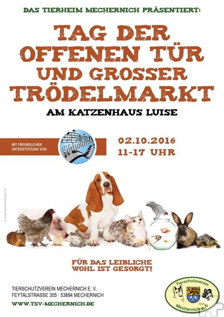 Am Sonntag, 2. Oktober, findet von 11 bis 17 Uhr ein Trödelmarkt auf dem Gelände des Tierheims Mechernich statt. Bild: Veranstalter/pp/Agentur ProfiPress