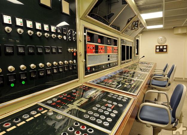 Die Kommandozentrale des ehemaligen Regierungsbunkers in Ahrweiler. Foto: Sascha Kelschenbach/Dokumentationsstätte Regierungsbunker