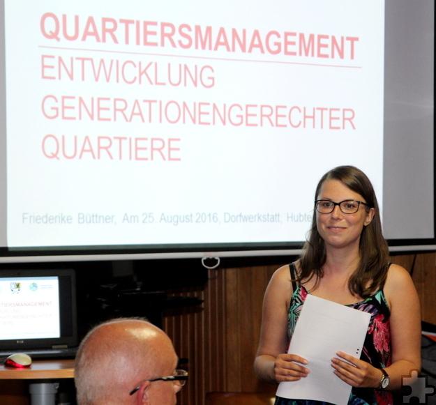 Friederike Büttner ist beim Kreis Euskirchen als Quartiermanagerin für die Projekte in Sistig und Scheven verantwortlich. Foto: Thomas Schmitz/pp/Agentur ProfiPress