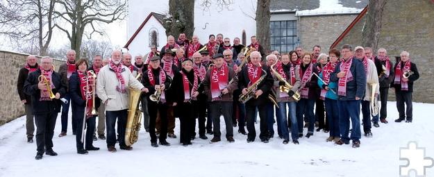 """Seit fast acht Jahren existiert """"Ü-50 in Concert, Blasorchester der Eifel"""" unter der Leitung von Peter Züll. Foto: Privat/pp/Agentur ProfiPress"""