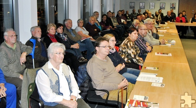 Mit 79 Zuhörern war die von Ortsvorsteher Günther Schulz initiierte Veranstaltung bestens besucht. Foto: Renate Hotse/pp/Agentur ProfiPress