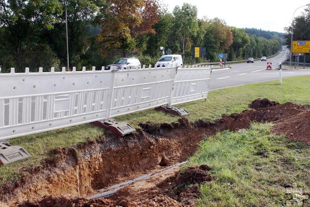 Im Zuge der Baumaßnahmen werden jetzt Leitungen und Kanäle umgelegt oder erneuert. Foto: Steffi Tucholke/pp/Agentur ProfiPress