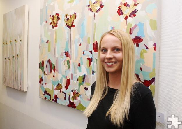 """Erika Morozaite führt ein Leben voller Farbe: """"Seitdem ich denken kann, sind die Malerei und die Kunst ein wichtiger Bestandteil in meinem Leben."""" Foto: Steffi Tucholke/pp/Agentur ProfiPress"""