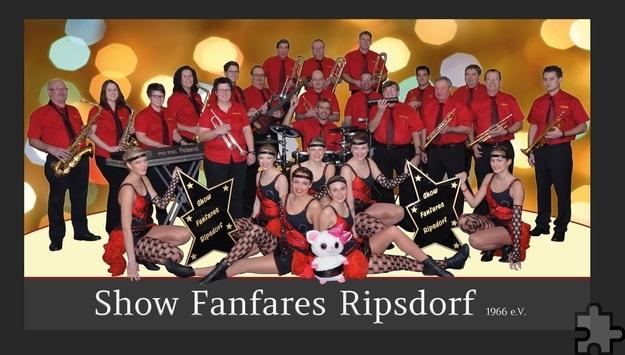 """Live-Musik und Showtanz bringen die Show-Fanfares Ripsdorf bei der """"Gala Tolbiac"""" auf die Bühne. Foto: Show-Fanfares Ripsdorf/pp/Agentur ProfiPress"""