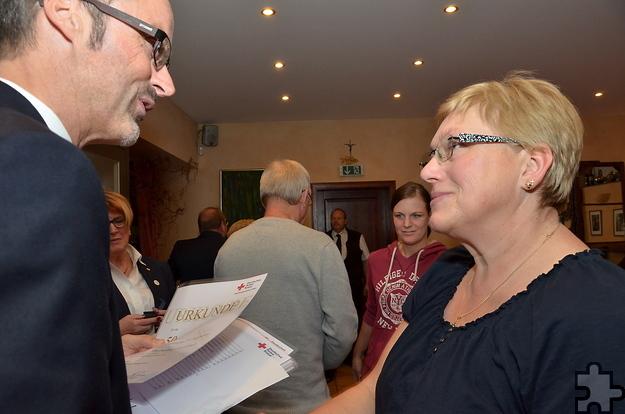 Auch Christine Greuel-Heiroth ging schon 50 Mal zur Blutspende, um anderen Menschen das Leben zu retten. Foto: ml/pp/ProfiPress
