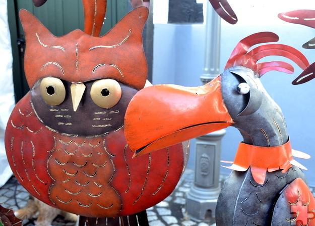 Die Besucher des 30. historischen Handwerkermarktes in Kommern konnten sich erneut mit zahlreichen Dekorationsartikeln für Haus und Hof eindecken. Foto: Cedric Arndt/pp/Agentur ProfiPress