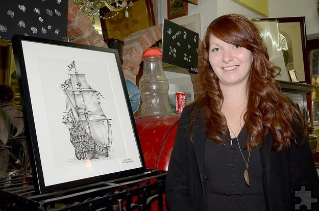 Die jüngste Künstlerin Carolin Peters aus Rheinbach machte ihr Hobby mittlerweile zum Beruf. Foto: Sarah Winter/pp/Agentur ProfiPress