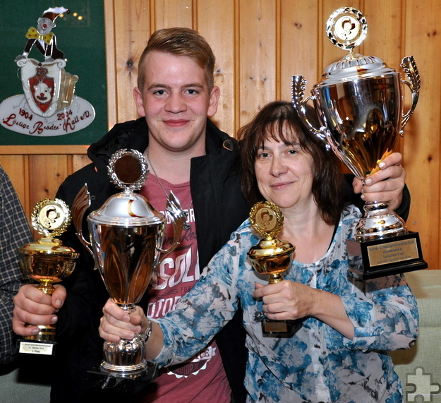 Schalteten die Konkurrenz aus: Lukas Müller gewann den Luischen-Cup, Heike Friederichs den Damenpokal. Foto: Reiner Züll/pp/Agentur ProfiPress