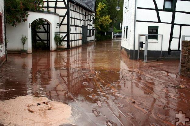 Ein solches Extrem-Hochwasser wie das Ende Mai in Scheven kommt laut Erftverband nur alle 200 Jahre vor. Foto: Privat/pp/Agentur ProfiPress