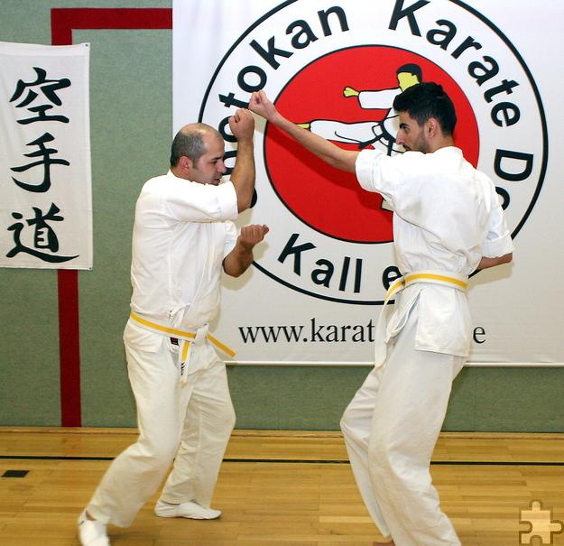 Makhmadrajab Saidaliev aus Tadschikistan und Ahmad Ahzyab aus Syrien waren beide auch schon in ihrer Heimat sportlich aktiv. Foto: Steffi Tucholke/pp/Agentur ProfiPress