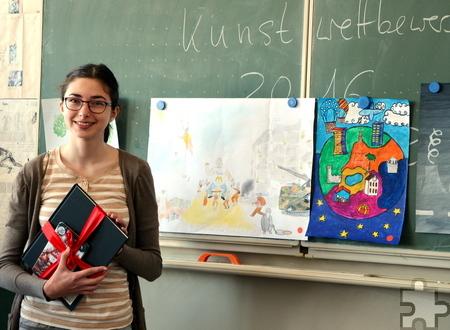 """Der Kunstwettbewerb am GAT stand unter dem Motto """"Meine Welt"""". Foto: Caroline Daamen/pp/Agentur ProfiPress"""
