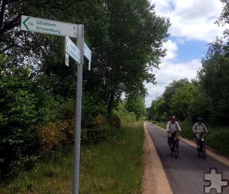 Mindestens 50.000 Radfahrer nutzen pro Jahr den Abschnitt des Kyll-Radwegs am Kronenburger See. Foto: Gemeinde Dahlem/pp/Agentur ProfiPress
