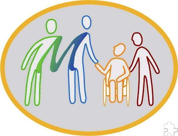 """Das Logo der 2005 gegründeten Mechernich-Stiftung mit dem stilisierten Mechernich-""""M"""" und Menschen, die zusammenhalten. Grafik: Anna Lang/pp/Agentur ProfiPress"""