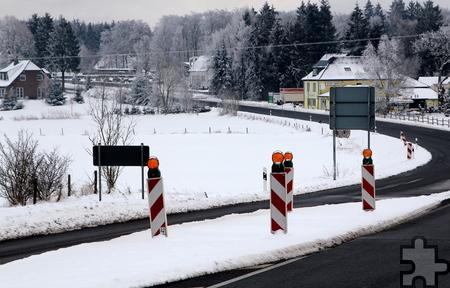 Seit Juni wird die insgesamt 1,6 Kilometer lange Ortsdurchfahrt in Krekel saniert. Foto: Thomas Schmitz/pp/Agentur ProfiPress