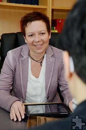 """Seit 2009 ist die Diplom-Finanzwirtin Claudia Weishaupt Mitglied der """"Chefetage"""". Sie ist als Fachberaterin auf Heilberufe spezialisiert. Foto: Manfred Lang/pp/Agentur ProfiPress"""