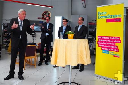 Einer der Gastredner war der ehemalige NRW-Innenminister Dr. Ingo Wolf aus Euskirchen. Foto: Privat/pp/Agentur ProfiPress