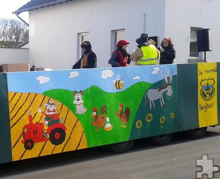 Am Montag, 27. Februar, startet um 14 Uhr der Rosenmontagszug in Bergbuir. Foto: Privat/pp/Agentur ProfiPress