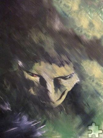 """""""Verschlungen"""" lautet der Titel dieses Bildes von Ursula Franke. Ihre Intention: """"Malen öffnet den Blick in eine versunkene Welt."""" Foto: Privat/pp/Agentur ProfiPress"""
